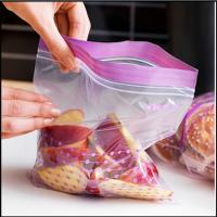 Resealable Plastic Bags For Foods Packaging , ZipLock Custom Printed Plastic Bags