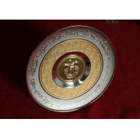 Alloy Material Arab Cultural Souvenirs / Commemorative Plate With Raised Logo Manufactures