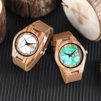 wooden watch box band leather no waterproof green marble dial wood watches Manufactures