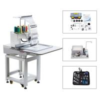 Quality Touch Screen Computerized Single Head Cap Embroidery Machine Wooden Packing for sale