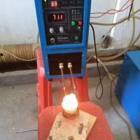 China Mini Induction Heating Melting Furnace 1-2kg for Gold Silver Copper Smelting on sale