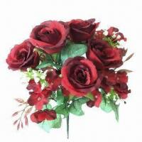 Fully-handmade rose bush with 12 heads in bright color Manufactures