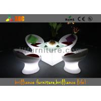 Wireless Remote Control LED Coffee Tables / bar table with glass top Manufactures