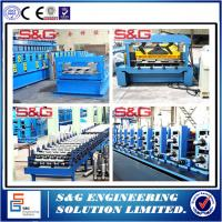 Galvanized Steel Composite Floor Deck Roll Forming Machine With Emobssing Rollers Manufactures