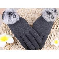 Winter Women'S Gloves With Touch Screen Fingertips , Soft Gloves For Cell Phone Use  Manufactures