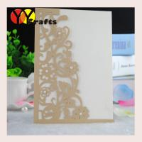 Laser cut wedding invitation card wholesale or retail with pearl