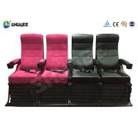 Electric 4D Movie Theater Motion Chair With Special Effect System 1 Year Warranty Manufactures