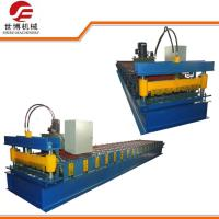 Double Cylinder Cutting Cut To Length Line IBR Roofing Sheet Roll Forming Machine Manufactures