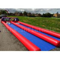 Customized Ourdoor Inflatable Sports Games , Airtight PVC Human Bowling Ball Manufactures