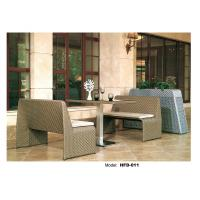 SGS PE rattan patio wicker furniture bar table and chair with cushion Manufactures
