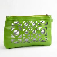 China Any color die cutting leather hand bag wholesale bags cosmetic bag on sale