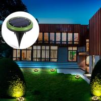 warm white 8leds solar powered underground light for lawn,garden and yard Manufactures