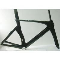 700C Carbon Track Bike Frame , Womens Raw Full Carbon Aero Bike Frameset 700 UD Manufactures