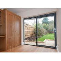 Quality Exterior Metal Aluminum Sliding Doors Tempered Glass System 6A 9A 12A for sale