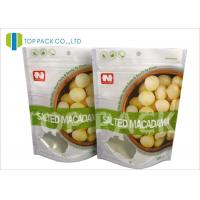 Matte Effect ziplock custom stand up pouches , Dried Nuts flat pouch packaging Foil Lined Manufactures