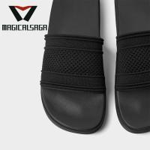 Famous brand flyknit fabric material men slipper comfortable flip flops upper Manufactures