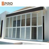 Outdoor Perforating Movable Aluminium Louver Window Vertical Sun Shading Manufactures