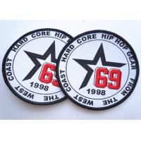 Rubber 3D Custom Clothing Patches Embosssed With Backing Manufactures