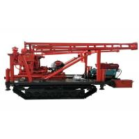 Hydraulic Tracked Mounted Water Well Drilling Rig With Single Axle Steering Brake Manufactures