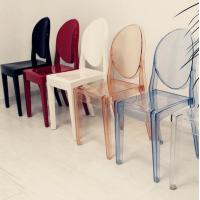 China Crystal Acrylic PC Victoria Armless Ghost Chair for Rental Business , 100% Waterproof on sale