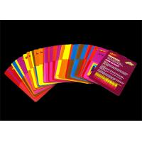 Quality Toddlers Early Learning Educational Flash Cards Customized Full Color Offset Printing for sale