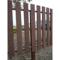 Natural Wooden WPC Decking / 100 % recyclable WPC Rail Fence For Farm