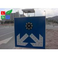 Freestanding LED Solar Powered Sign Lights , Traffic Safety IP65 Commercial Solar Sign Lights Manufactures
