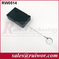 Coiled Security Cable With Key Ring , Retail Stores Cell Phone Security Cable