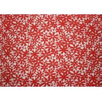 Red 47 Inches DTM Flower Embroidered Lace Fabric With African Cord Lace By Azo Free Manufactures