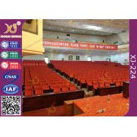 Soft Closing Fold Up Auditorium Theater Seating Abrasion Resistant Fabric Manufactures