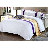 Hotel Bedding Sets High Grade White And King Size With 60S 100% Cotton Manufactures