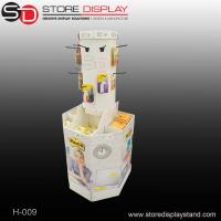 round hook display stand with compartments base display bin Manufactures