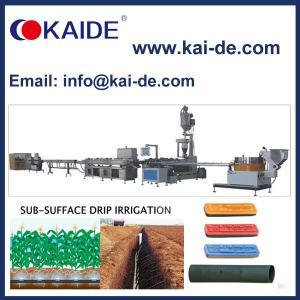 China Subsurface Inline Flat Drip Irrigation Pipe Making Machine on sale