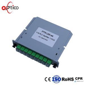 Digital Passive Fiber Splitter , PLC 1*8 LGX Fiber Optic Cable Splitter Manufactures