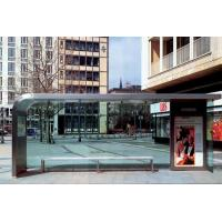 Anti Dust Stainless Steel Smoking Shelter , Heat Resistant Modern Bus Stop Design Manufactures