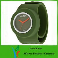 China OEM / ODM Slap Watches, Silicone Wristband Watch With Colorful Dial on sale