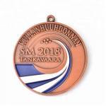 Marathon Running Sport Laser Engraved Medals , Custom Metal Medal Antique Finish Manufactures