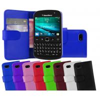 China Black PU Leather Stand Blackberry Cell Phone Cases for Blackberry 9720 on sale
