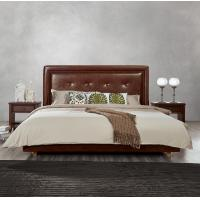 Quality Fabric Upholster padad Headboard Queen Bed Leisure Bedroom Furniture in American for sale