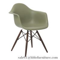 Eames DSW Upholstered chair,plastic armrest dining chair,eames chairs,solid wood legs chair,pp seat chairs Manufactures