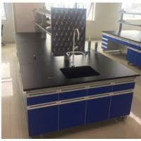 All Steel Modular Lab Furniture , Laboratory Wall Bench With Reagent Shelf Manufactures