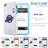 2014  Wholesale NBA Jazz PC and TPU  Mobile Phone Case  for iPhone 5S Manufactures