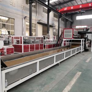 China LVT Vinyl Plank Floor Production Line PLC Control,Back glue self-adhesive luxury vinyl plank flooring making machine on sale
