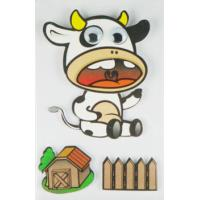 Cow Design Kids Scrapbook Stickers , Custom Die Cut Stickers 1.0 Mm Thin Manufactures
