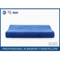 Blue Curved Memory Foam Contour Pillow Relief Of Back / Neck And Shoulder Pain Manufactures
