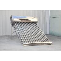 China all stainless steel non pressure thermosyphon vacuum tube solar water heater on sale