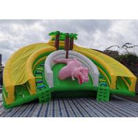 China Jurassic Park Tropical Jungle Giant Dinosaur Inflatable Water Park Bouncer Slide Combo on sale