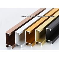 Metal Type Aluminium Wall Picture Frame Mouldings With Brushed Sides for sale
