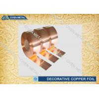 0.01mm - 30mm Decorative Copper Foil sheet for Communication cable , PCB field Manufactures