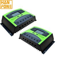 Green Black Solar Energy Controller 50A PWM Solar Power Controller With High Efficiency